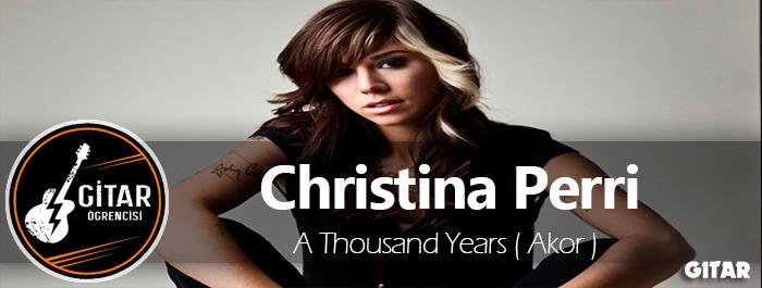 Christina Perri – A Thousand Years Akor