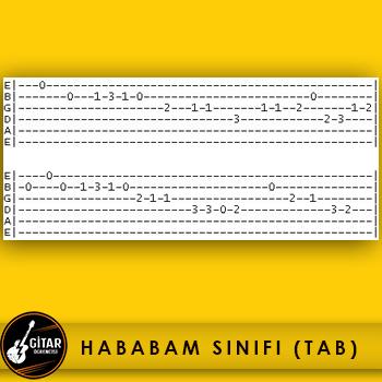 hababam sınıfı gitar tab